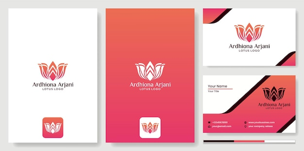Design de logotipo flores de lótus abstratas com silhuetas de pessoas ioga meditação fitness saúde, beleza do spa logotipo de design de flores de lótus de vetor