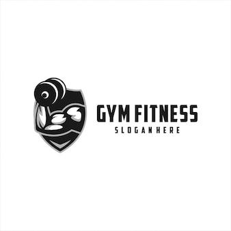 Design de logotipo forte de fitness de academia