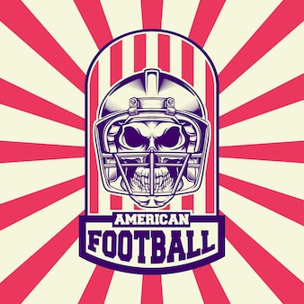 Design de logotipo futebol americano com estilo retro