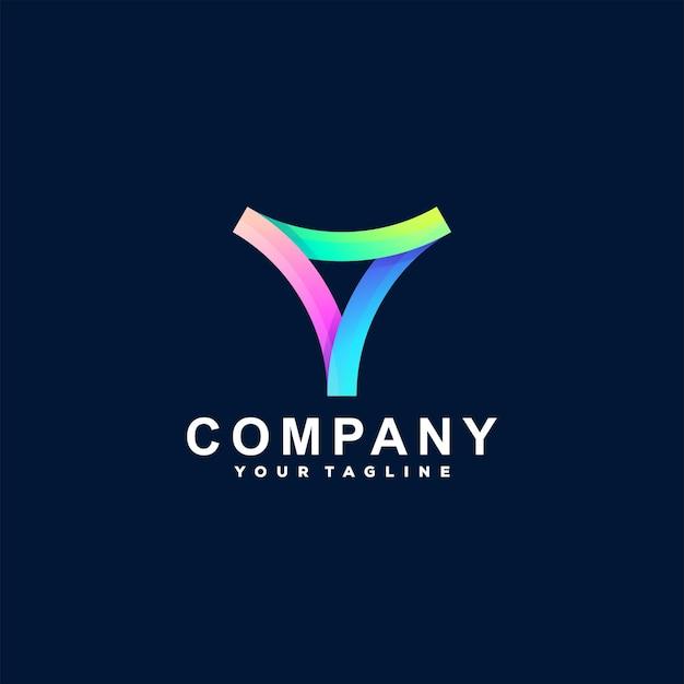 Design de logotipo gradiente abstrato de triângulo Vetor Premium
