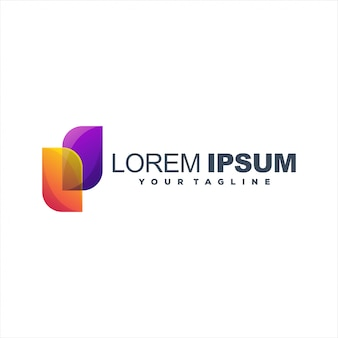 Design de logotipo gradiente abstrato impressionante