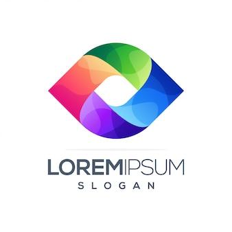 Design de logotipo gradiente colorido abstrato