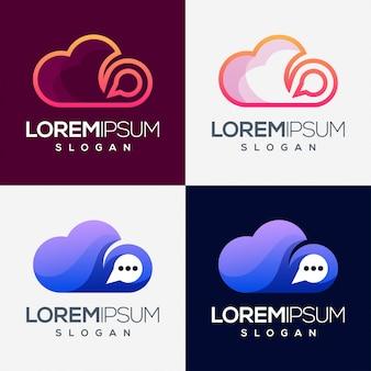 Design de logotipo gradiente colorido de nuvem