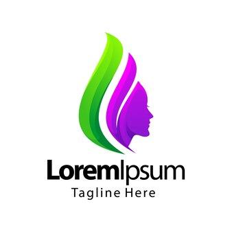 Design de logotipo gradiente de beleza