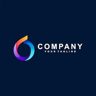 Design de logotipo gradiente de círculo abstrato