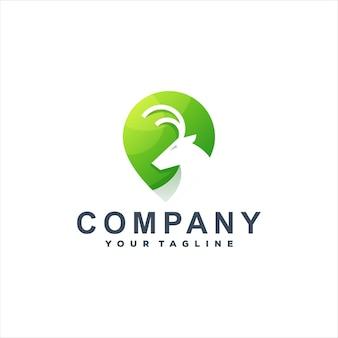 Design de logotipo gradiente de cor de cervo