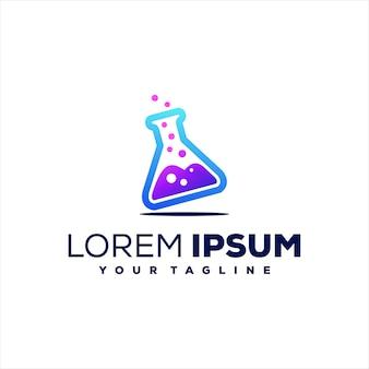 Design de logotipo gradiente de fórmula de vidro