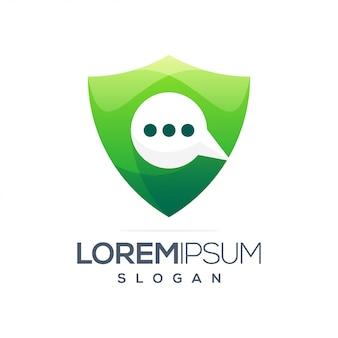 Design de logotipo gradiente de inspiração de bate-papo