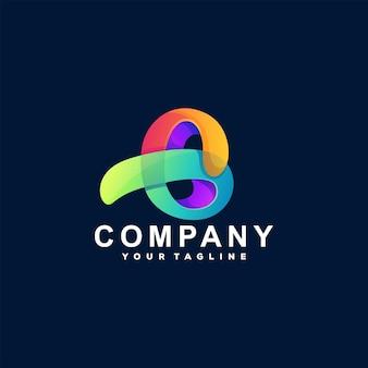 Design de logotipo gradiente de letras abstratas