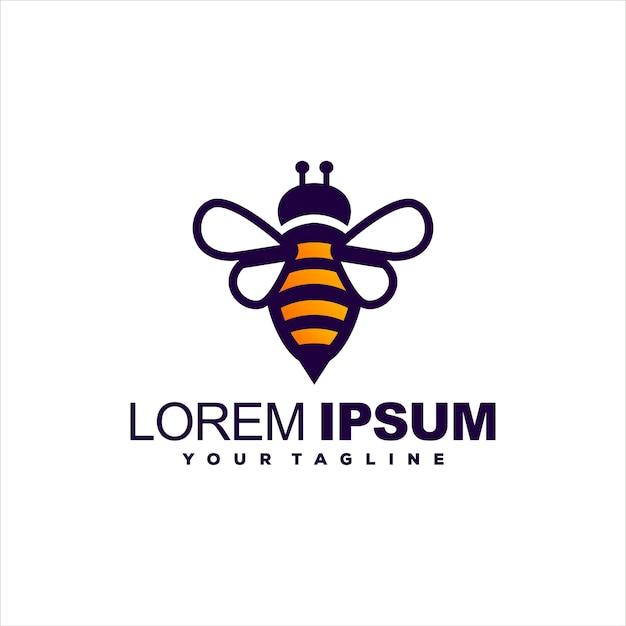 Design de logotipo gradiente de mel de abelha