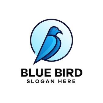 Design de logotipo gradiente de pássaro