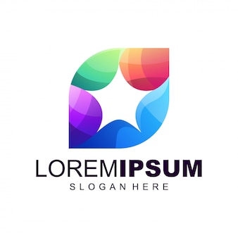 Design de logotipo gradiente de pessoas