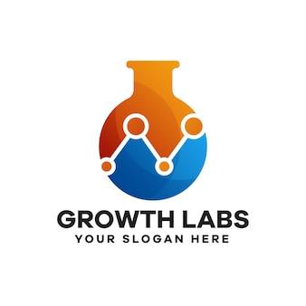 Design de logotipo gradiente do science labs