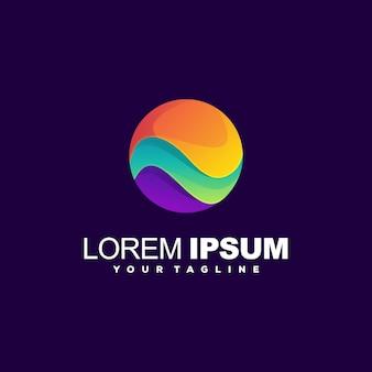 Design de logotipo gradiente impressionante círculo