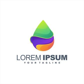 Design de logotipo gradiente impressionante gota