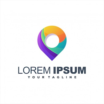 Design de logotipo gradiente impressionante pin