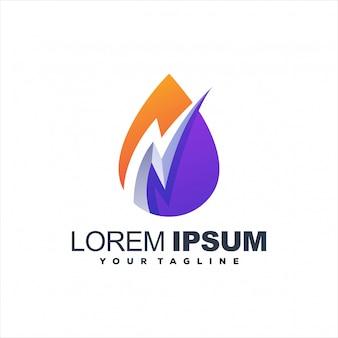 Design de logotipo gradiente impressionante relâmpago
