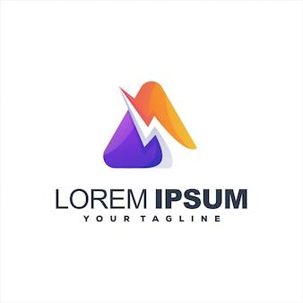 Design de logotipo gradiente impressionante triângulo