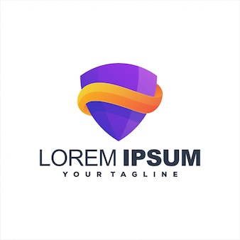 Design de logotipo gradiente incrível escudo