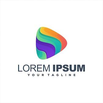 Design de logotipo gradiente incrível jogo