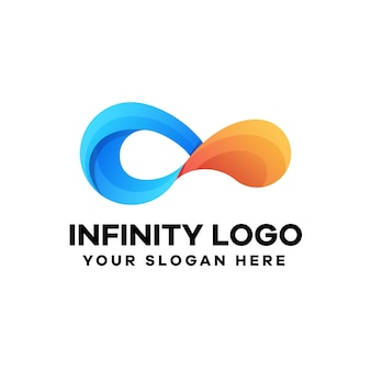 Design de logotipo gradiente infinito abstrato