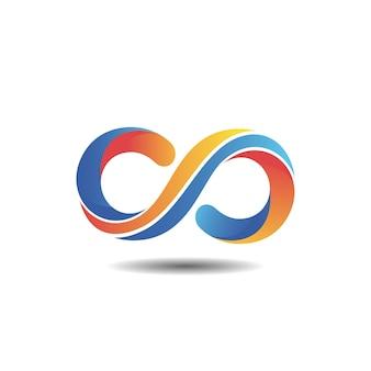 Design de logotipo gradiente infinito
