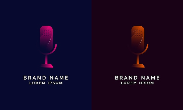 Design de logotipo gradiente moderno podcast.