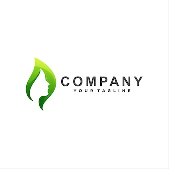 Design de logotipo gradiente para senhora da beleza