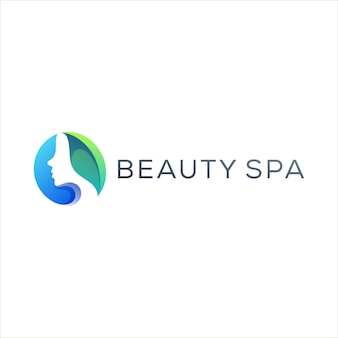 Design de logotipo gradiente para spa de beleza