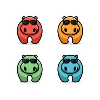 Design de logotipo hipopótamo