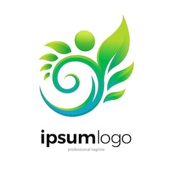 Design de logotipo humano saudável abstrato
