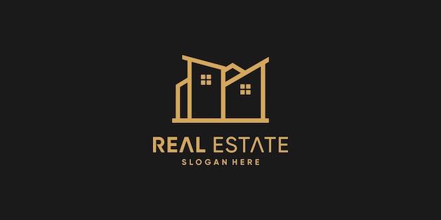 Design de logotipo imobiliário com estilo criativo premium vector