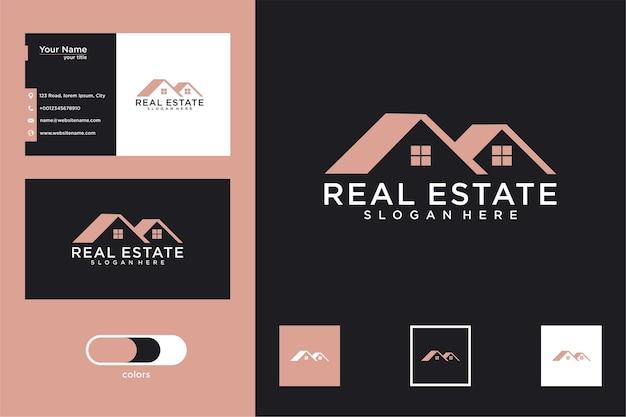 Design de logotipo imobiliário e cartão de visita