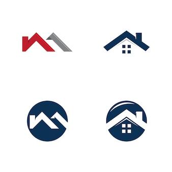 Design de logotipo imobiliário, sinal da empresa. logo vector