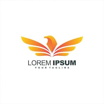 Design de logotipo impressionante águia gradiente