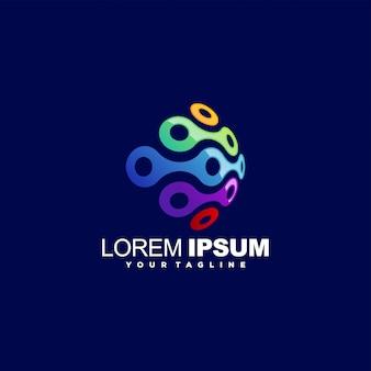 Design de logotipo impressionante círculo abstrato