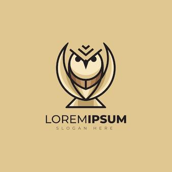Design de logotipo impressionante coruja