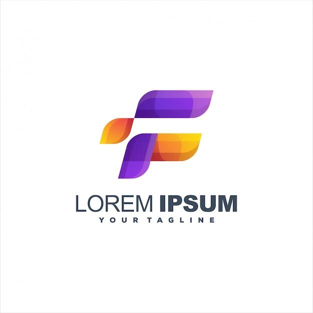 Design de logotipo impressionante letra f