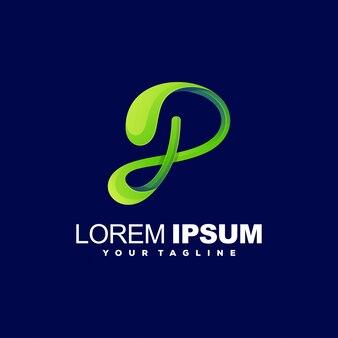 Design de logotipo impressionante letra p