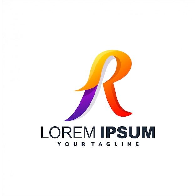 Design de logotipo impressionante letra r