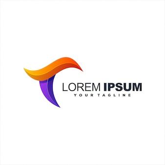 Design de logotipo impressionante letra t