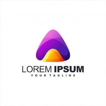Design de logotipo impressionante triângulo gradiente