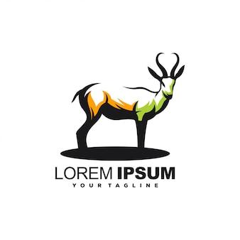 Design de logotipo impressionante veado