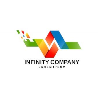 Design de logotipo infinito para digital