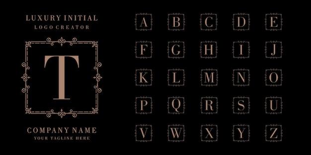 Design de logotipo inicial de luxo