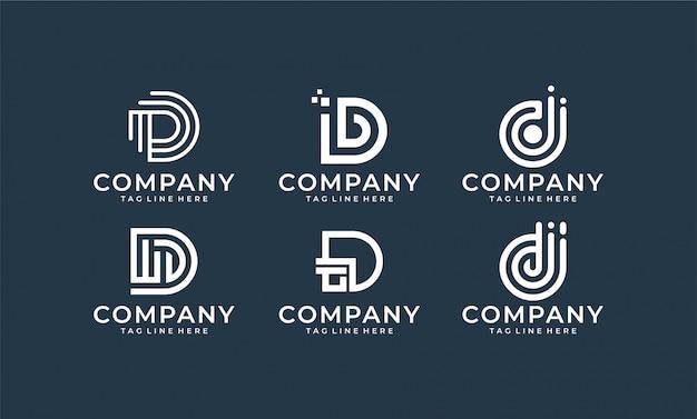 Design de logotipo inspirado letra d monograma