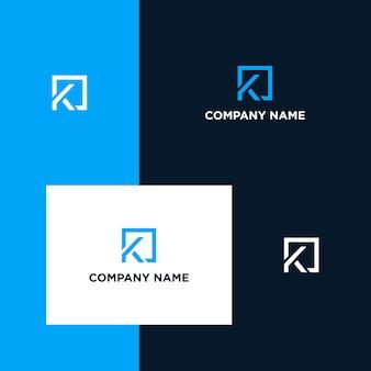 Design de logotipo inspirador letra k
