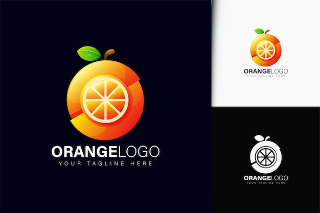 Design de logotipo laranja com gradiente