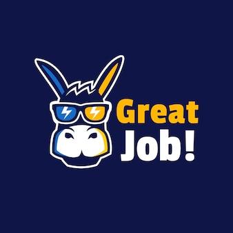 Design de logotipo legal com óculos de sol