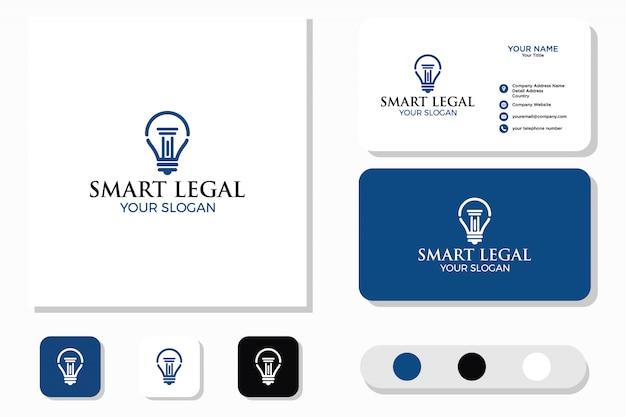 Design de logotipo legal e de cartão de visita inteligente
